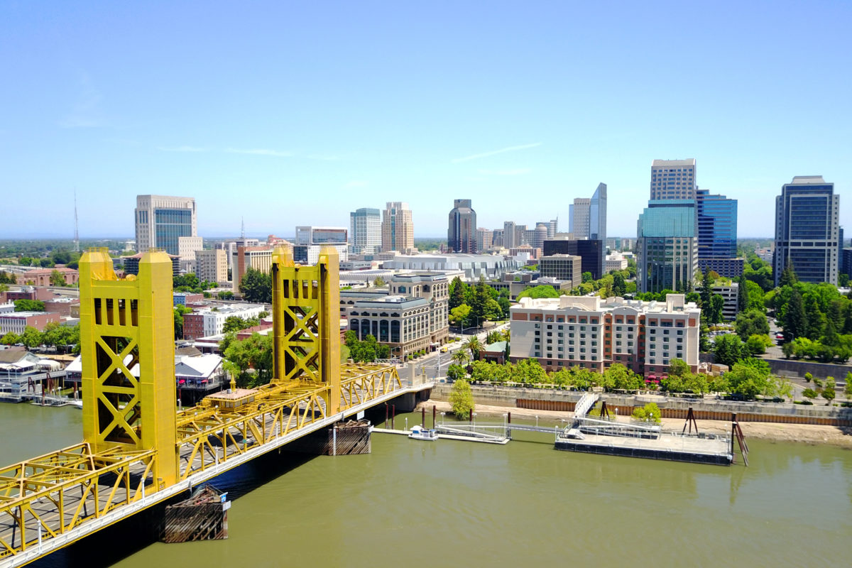 Image: A view of downtown Sacramento. Learn more about the California split tax roll.